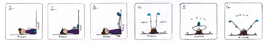 Legs up the wall, Illustration by Cat York