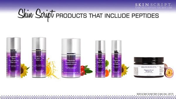 Skin Script products that include peptides