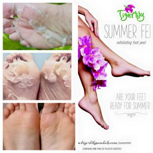 Tiger Lily Peel to get your feet in summer shape