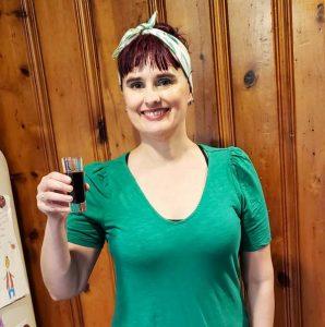 Sending cheers with my elderberry syrup
