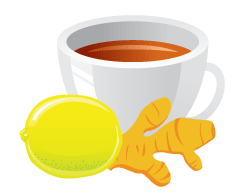 Ginger, Turmeric and Cinnamon Tea is great for immunity