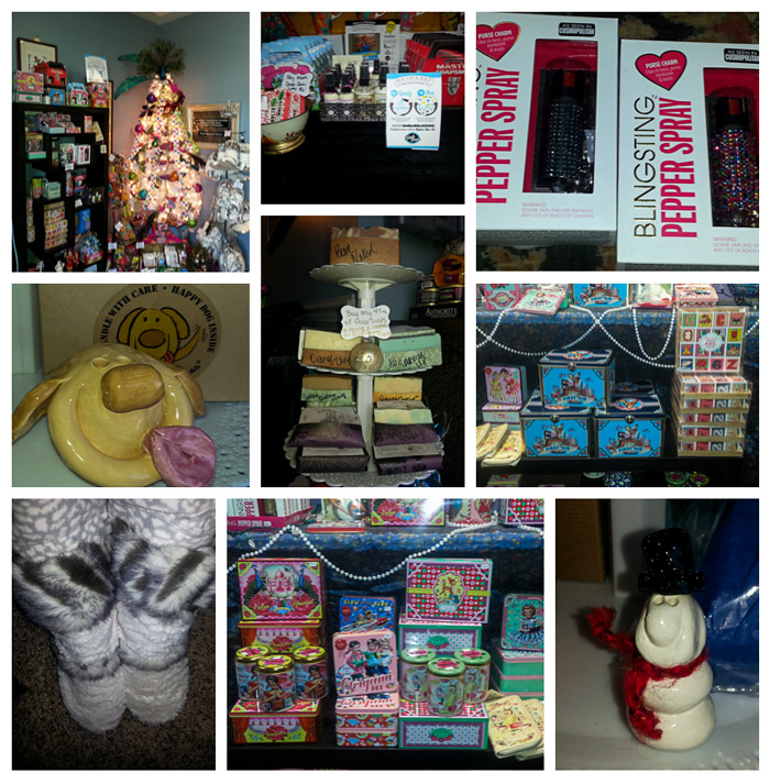 A collage of holiday goodies