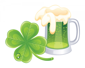 Green beer for Saint Patrick's Day