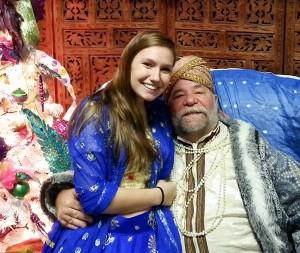 Lauren with our Maharajah Santa