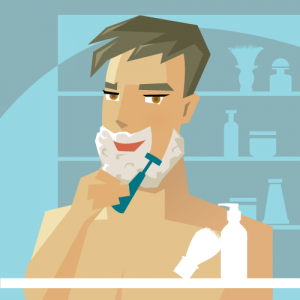 The proper way for men to shave