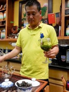 Our tea connoisseur at Vital Leaf Tea