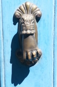 new hand door knocker