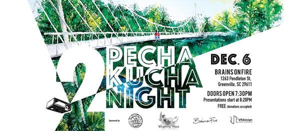 Our next Pecha Kucha Night is December 6th