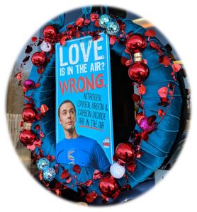 Tribute to Sheldon Valentine's Day Wreath
