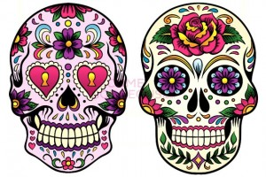 Sugar Skull Makeup Designs from BecomeGorgeous.com - Beautiful!