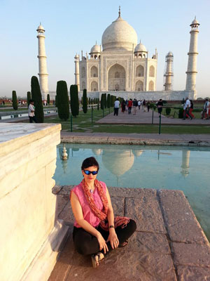 Me at the Taj Mahal